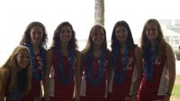 The girls, a bit dark, prior to the team pics.