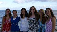 The ladies at the luau