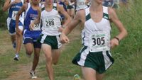 Colby Lowe leading the pack on the way to the victory