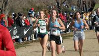 Then comes Melissa Dewey (147) running alongside Brooke Upshaw from Southlake, TX